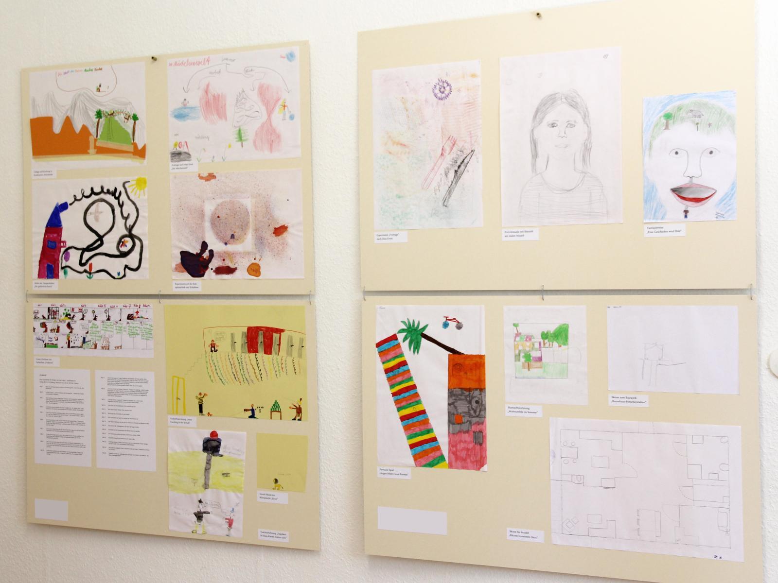 Kunstgespuer Kinderatelier-Ausstellung Betrachtungen 01 Experimente