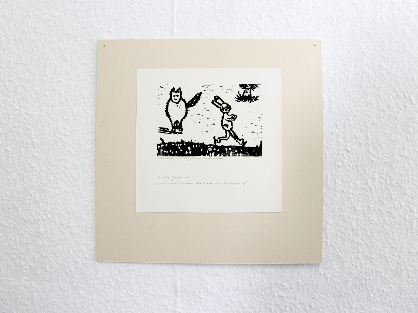 Kunstgespuer Kinderatelier-Ausstellung-Fantasievolle-Druckgrafik-Plastik Luegengeschichte 7