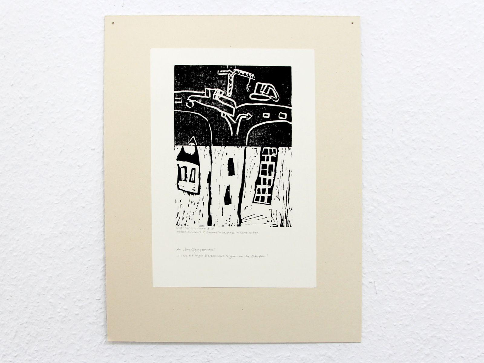 Kunstgespuer Kinderatelier-Ausstellung-Fantasievolle-Druckgrafik-Plastik Luegengeschichte 5