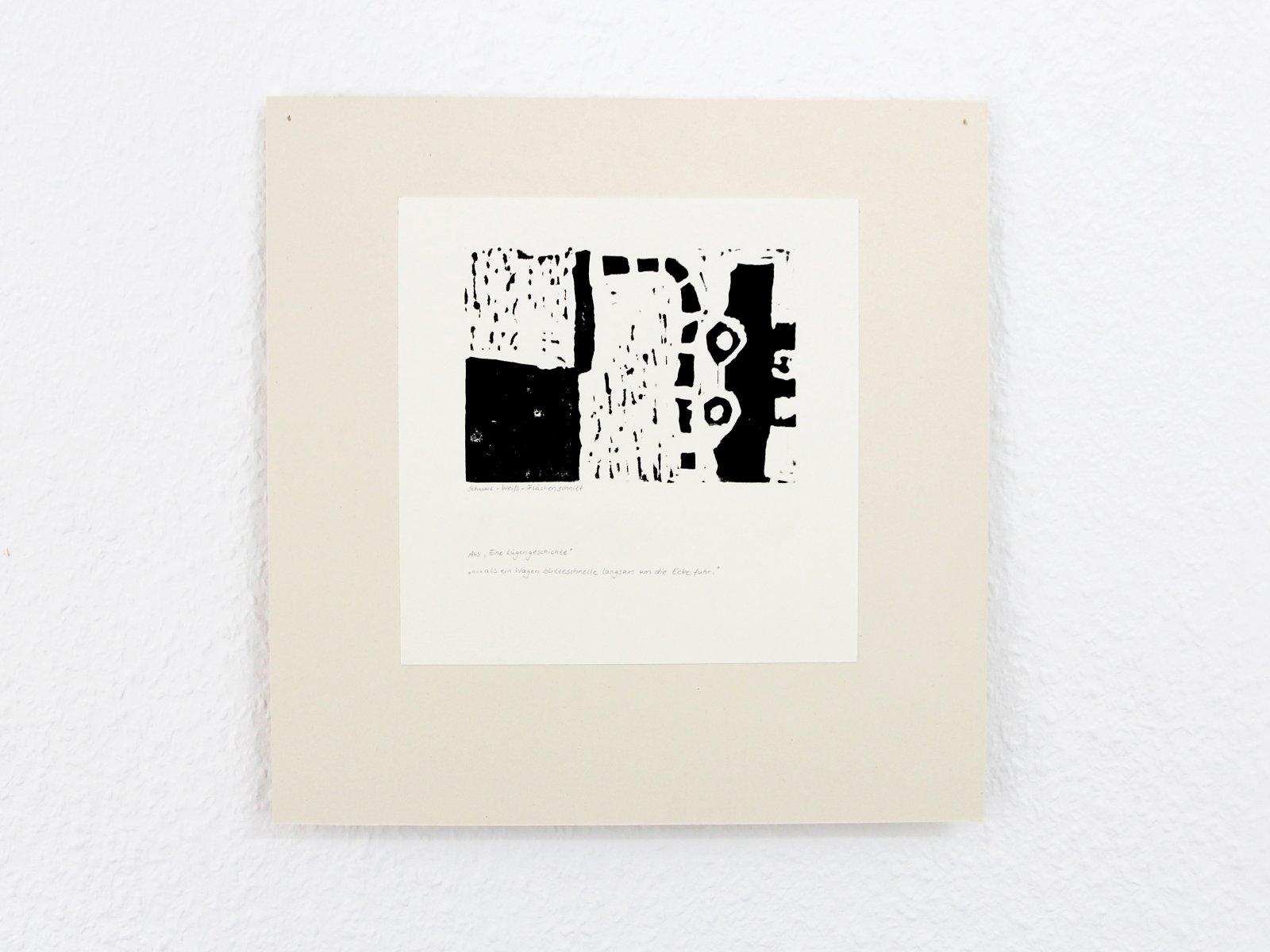 Kunstgespuer Kinderatelier-Ausstellung-Fantasievolle-Druckgrafik-Plastik Luegengeschichte 4