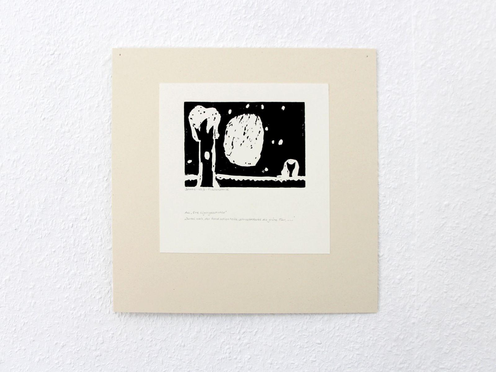 Kunstgespuer Kinderatelier-Ausstellung-Fantasievolle-Druckgrafik-Plastik Luegengeschichte 2