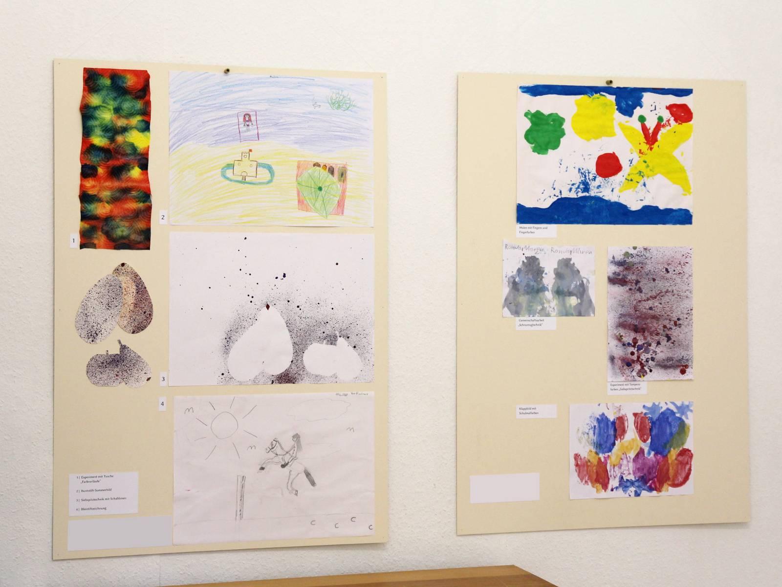 Kunstgespuer Kinderatelier-Ausstellung Betrachtungen 01 Kunsttechniken