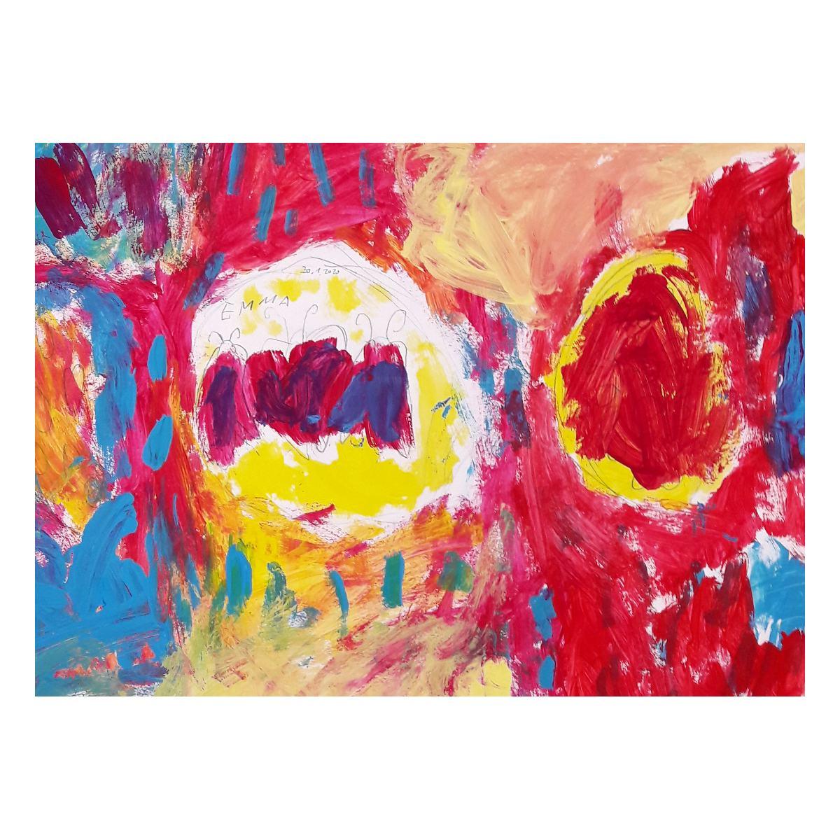 Emma, Malerei Mischfarben, Atelier Kunstgespür, Berlin-Grünau